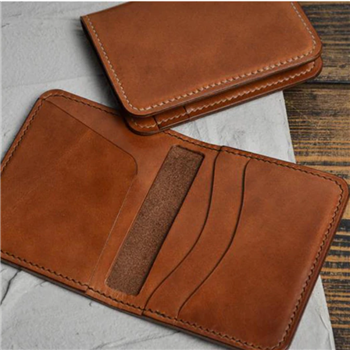 men handmade wallet genuine leather