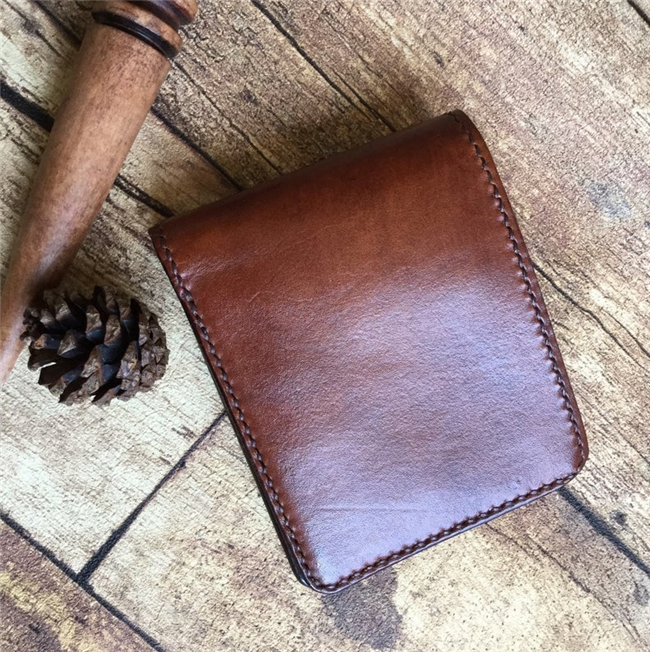 Handmade Men Wallet vegetable tanned